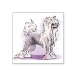Chinese Crested Square Sticker 3