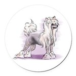 Chinese Crested Round Car Magnet