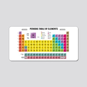 Periodic table aluminum license plates cafepress periodic table of elements aluminum license plate urtaz Choice Image