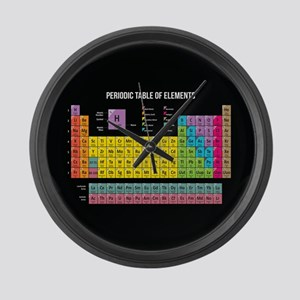 Periodic Table Of Elements Large Wall Clock