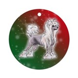 Chinese crested Round Ornaments