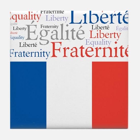 Celebrate France Tile Coaster