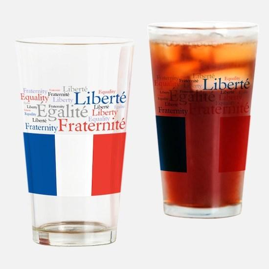 Celebrate France Drinking Glass