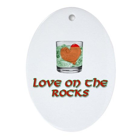 On the Rocks Oval Ornament