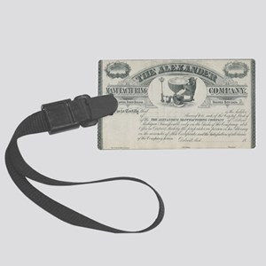 alexander manufacturing stock ce Large Luggage Tag