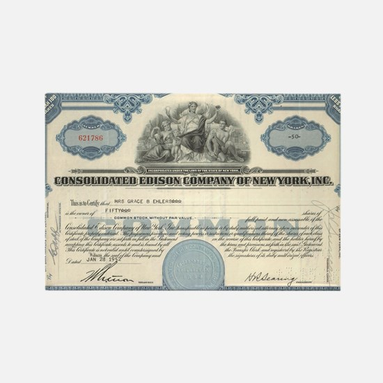 Con Ed stock certificate Rectangle Magnet
