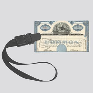 Con Ed stock certificate Large Luggage Tag