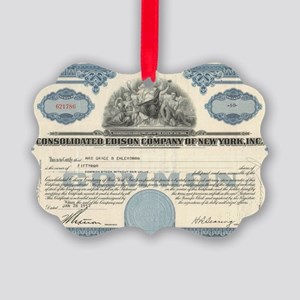 Con Ed stock certificate Picture Ornament