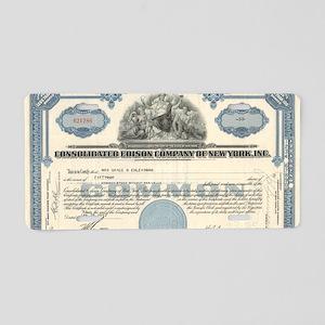 Con Ed stock certificate Aluminum License Plate