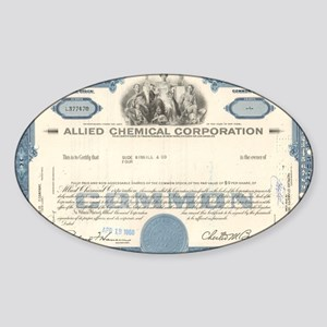 Allied Chemical stock certificate  Sticker (Oval)