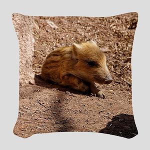 Baby Boar Woven Throw Pillow