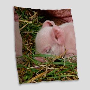 Sleeping Baby  Burlap Throw Pillow
