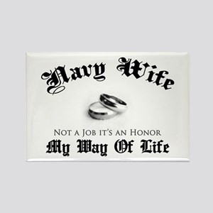 Navy Wife: Not a Job Rectangle Magnet