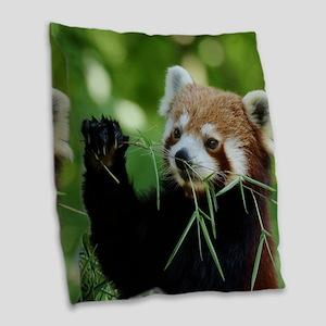 RedPanda20150818 Burlap Throw Pillow