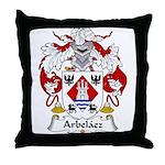 Arbelaez Family Crest Throw Pillow