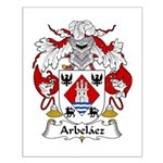Arbelaez Family Crest Small Poster