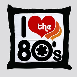 I Love the 80's Throw Pillow