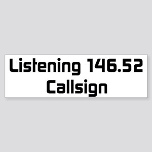 Custom Callsign Bumper Sticker