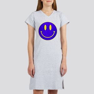 Happy FACE vintage blue Women's Nightshirt
