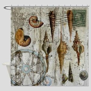 shabby chic beach nautical Shower Curtain