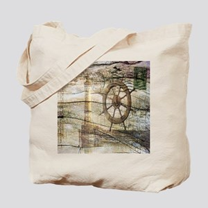 shabby chic beach lighthouse Tote Bag