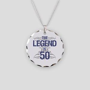 Legend 50th Birthday Necklace Circle Charm