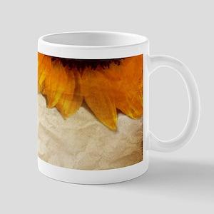 girly swirls floral sunflower Mugs