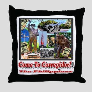 Come to Corregidor! Throw Pillow