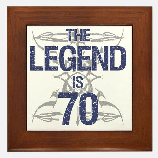 Legend 70th Birthday Framed Tile