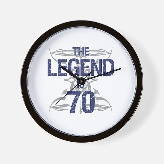 Legend 70th Birthday Wall Clock