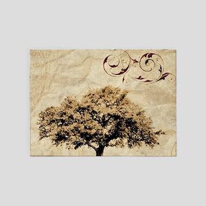 romantic landscape oak tree 5'x7'Area Rug