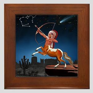 Native American Sagittarius Framed Tile