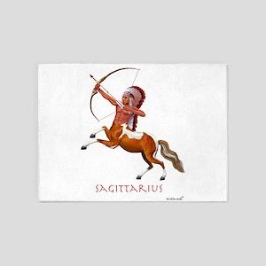 Native American Sagittarius 5'x7'Area Rug