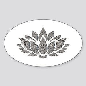 black and white lotus Sticker