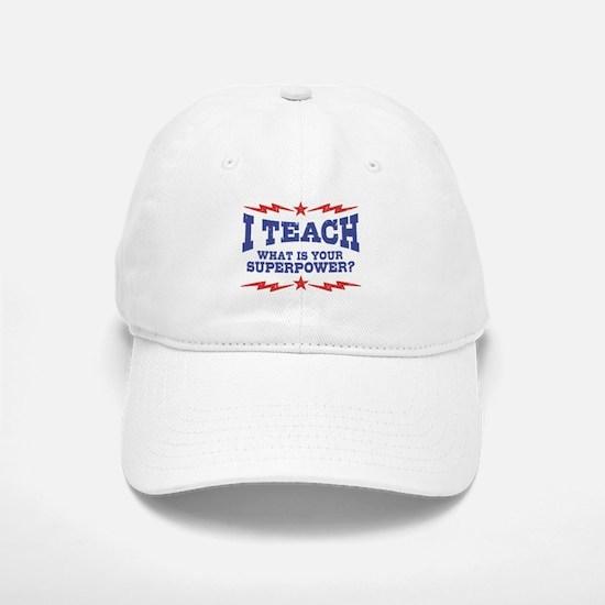 Funny Teacher Baseball Baseball Cap