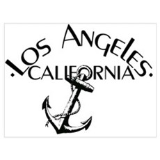 Los Angeles, California Anchor! Poster