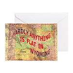 Flat Wyoming Greeting Card