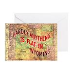 Flat Wyoming Greeting Cards (Pk of 20)
