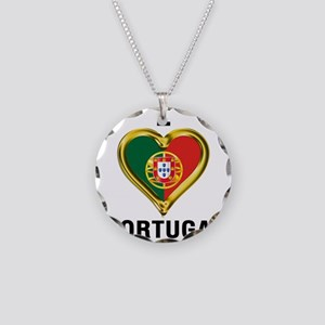 I HEART PORTUGAL Necklace Circle Charm