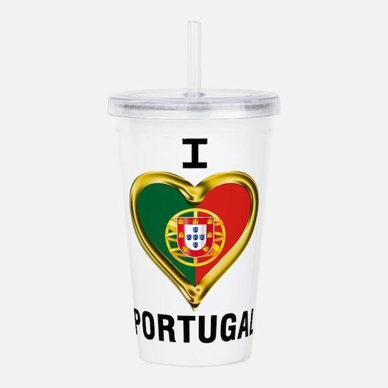 I HEART PORTUGAL Acrylic Double-wall Tumbler