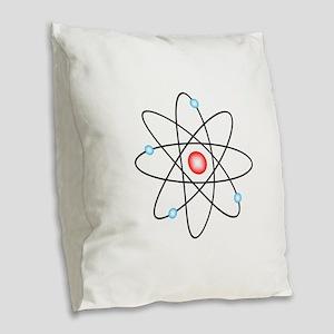 Atomic Burlap Throw Pillow
