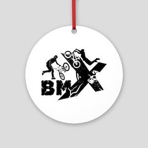 BMX Rider Round Ornament