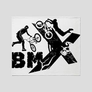 BMX Rider Throw Blanket
