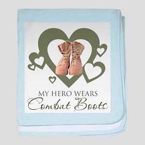 My Hero Wears Combat Boots baby blanket