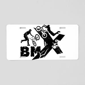 BMX Rider Aluminum License Plate