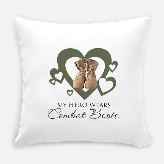 My Hero Wears Combat Boots Everyday Pillow