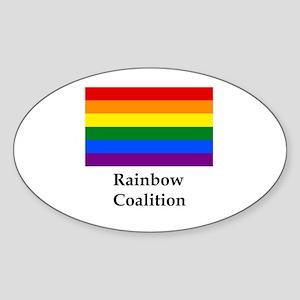 Rainbow Coalition Sticker (Oval)