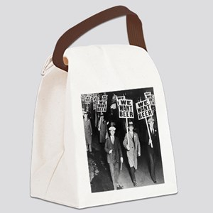 We Want Beer Canvas Lunch Bag