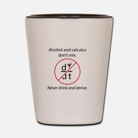 Alcohol and Calculus Shot Glass