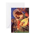 Mandolin Angel & Dobie Greeting Card